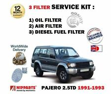 FOR MITSUBISHI PAJERO 2.5TD IMPORT 1991-1993 OIL AIR FUEL FILTER SERVICE KIT