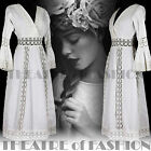 VINTAGE 70s DRESS LACE WEDDING VICTORIAN 8 10 12 14 INDIAN CROCHET MEXICAN BOHO