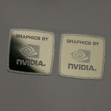 2x Graphics by NVIDIA Logo Chrome Metal Sticker / Haswell Case Badge 17x17mm
