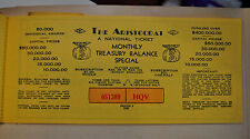 Vintage The Aristocrat National Lottery Ticket Never Sold Unused 1935 MINT