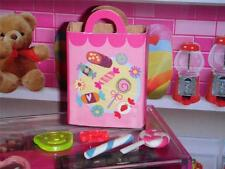 Barbie Candy Shopping Bag & Treats fits Fisher Price Loving Family Dollhouse