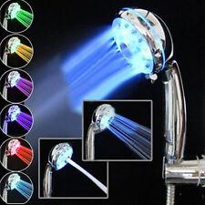 7 Couleur 3 Modes LED Pommeau Douchette Douche Shower Lumineux Pr Salle de Bain