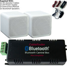 Wireless/Bluetooth Amplifier & 80W Bookshelf Speaker Kit–Surround Sound HiFi Amp