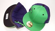 NEW ERA HAT CAP FITTED SUPERMAN SIZE 8 GREEN PURPLE 59FIFTY