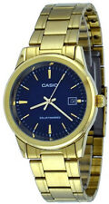 Casio Men's Analog Solar Powered Gold Tone Stainless Steel Watch MTP-VS01G-2A