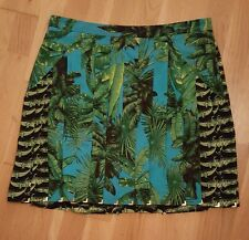 Versace for h&m hm size 12 pleated tropical print skirt
