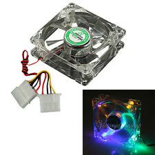 80mm 4 Pins LED Multi-Color CPU Heatsink Cooling Cooler Case Fan For Computer PC