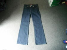 """Simply Wow Bootcut Jeans Size 12 Leg 32"""" Faded Dark Blue Ladies Jeans"""