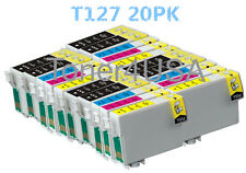 20 PK T127 XL Ink cartridge For Epson Workforce 630 635 840 845 WF-3540 WF-7010