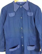 Antico 40V FRENCH BLUE Work Wear noiosa Vestito Grembiule scorte morte VINTAGE PREPPY MAC