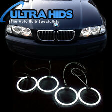BMW E46 Riflettore 2 PORTE BERLINA 8000K BIANCO TINTA BLU XENO CCFL ANGEL EYE Anello