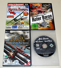 PC SPIELE SAMMLUNG ROTER BARON SIMULATION WINGS OF HONOUR ROTE JAGD AUF ROTEN