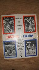 Liverpool v Everton Football Programme.Semi Final Replay 27/4/77