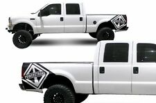 Vinyl Rear Decal Powerstroke Wrap Kit for Ford F-250/F-350 1999-2006 Matte Black