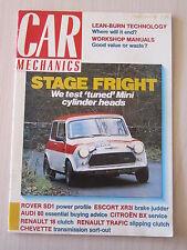 Car Mechanics Magazine February 1989, Rover SD1, Escort XR3i, Audi 80, Chevette