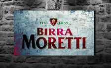 MORETTI BIRRA ITALIANA retrò in metallo Insegna Bar Pub Club Home Den Man Grotta Decor