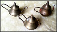 Vintage Collectible Solid Brass Incense Holders: Set of 3 - Made in India