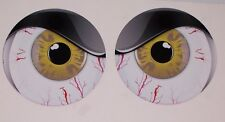 GOLD NO FEAR EYES VINYL DECAL PAIR SHOTGUN AIR INTAKE EYE BALL BUG CATCHER