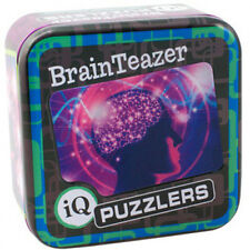 IQ Puzzler Tin BrainTeazer Brain Trainer Teaser Mind Workout Stocking Filler