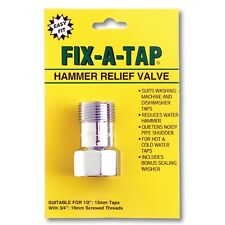 Fix-A-Tap Hammer Relief Valve 19mm – suits washing machine and dishwasher taps