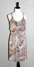 Suzi Chin for Maggy Boutique Dress Women's Size 6 Silk Sleeveless Lined