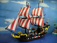 Lego 6285 Vintage Black Seas Barracuda Pirate Ship 100% Complete