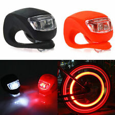 Silicone Bike Bicycle Cycling Head Front Rear Wheel LED Flash Light Lamp