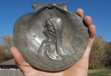 THE HERMIT BRONZE SCALLOP SHELL SIGNED L.RAGOT 1902 HERMITAGE MILFORD,PA RARE!