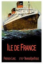 Ile de France -  French Line Poster  11 x 17