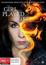 THE GIRL WHO PLAYED WITH FIRE (PART 2 OF TRILOGY) - BRAND NEW & SEALED REG 4 DVD