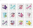 24pc girl FAIRY TATTOOS washable party bag filler toy body sticker children
