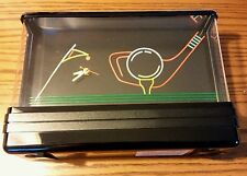 VINTAGE RARE - WALL HUNG TABLE GOLF SCENE CLOCK WITH NEON LIGHTS - BAR PUB SIGN