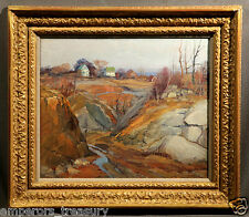 Edward Willis Redfield Impressionistic Landscape Signed Oil Painting (AMERICAN)