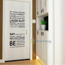 Family Rules Phrases Wall Sticker Decal Removable Art Vinyl Home Room Decoration