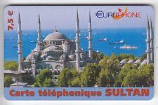 FRANCE  TELECARTE / PHONECARD  PREPAYEE .. 7€50 EUROPHON SULTAN MOSQUEE 07/03+N°