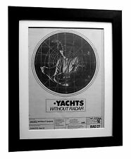 YACHTS+Without Radar+POSTER+AD+RARE ORIGINAL 1980+FRAMED+EXPRESS GLOBAL SHIP