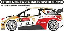 DECALS 1/43 CITROËN DS3 WRC #4 - OSTBERG - RALLYE DE SUEDE 2014 - MF-ZONE D43283