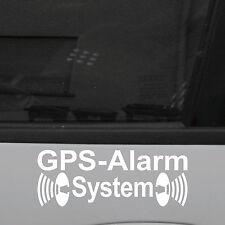 2 Stück GPS Alarm System weiß Aufkleber Tattoo Sticker decal Folie f. Außenseite