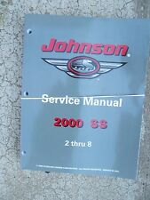 2000 SS Johnson Outboard Motor 2 thru 8 Service Manual MORE IN OUR STORE  U