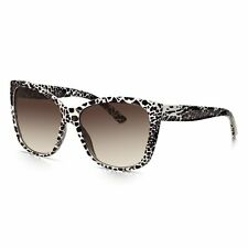 Sunglass Junkie Womens White Animal Print Oversized Glamour Sunglasses-B14054