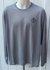 Ralph Lauren mens polo sport performance jersey tee shirt gray polyester large