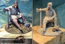 Sk Miniatures Viking Warrior 75mm kit sin pintar Resina Mike en Blanco