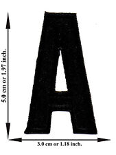 Alphabet A Black Color English Letter Applique Iron on Patch Sew For T-shirt