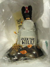 Dept 56 OVER THE HILL TOMBSTONE  Halloween Village Accessories - #53072  (h10N)