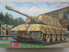 Dragon 6011 German e 100 SUPER HEAVY TANK 1:35 Nuovo & imbustato in aperto OVP