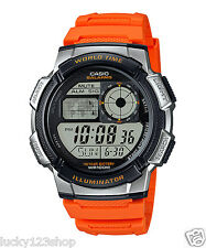AE-1000W-4B Orange Casio Men's Watches Standard Digital 10-Year Battery New