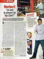 Coupure de presse Clipping 2012 (1 page) Top Chef Norbert