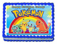 "POKEMON Party Edible image Cake topper decoration 7.5:""x10"" - personalized free!"