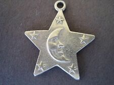 STAR STARS MAN in the MOON Lunar Astronomy Lucky Necklace NEW Jewelry