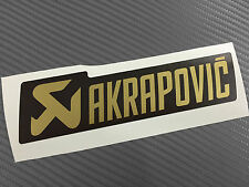 1 Adesivo Stickers AKRAPOVIC GOLD Edition resistente al calore